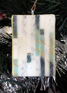 ©2013 Lauren T Kistner, Encaustic ornament by Terry Burkes, Boise, Idaho