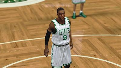 NBA 2K13 Rajon Rondo Cyberface NBA2K Patches