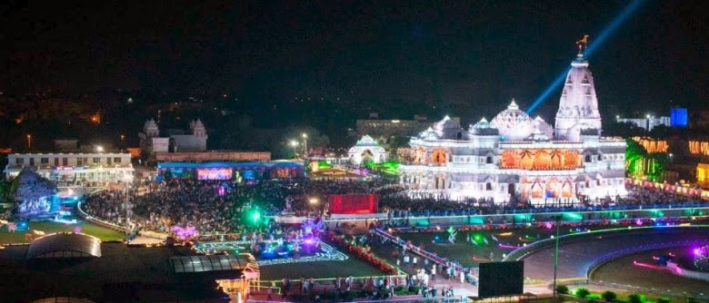 Prem Mandir Krishna Janmashtami on Sunday, 17 August 2014