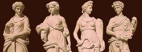 estatuas antiguas de chicas romanas