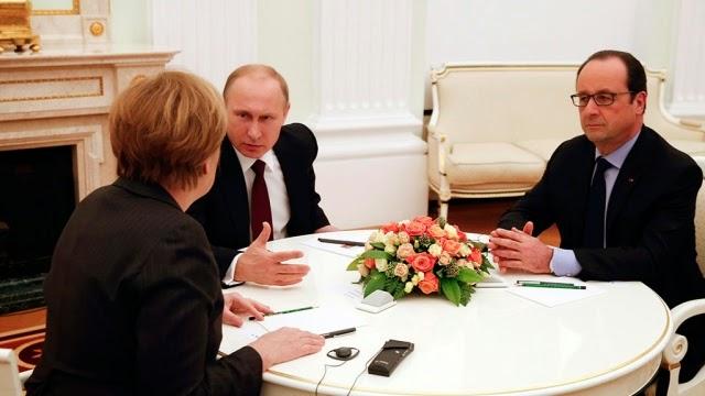 Putin dopo i colloqui per risolvere la situazione nel Donbass con i leader di Francia e Germania ha preso un timeout