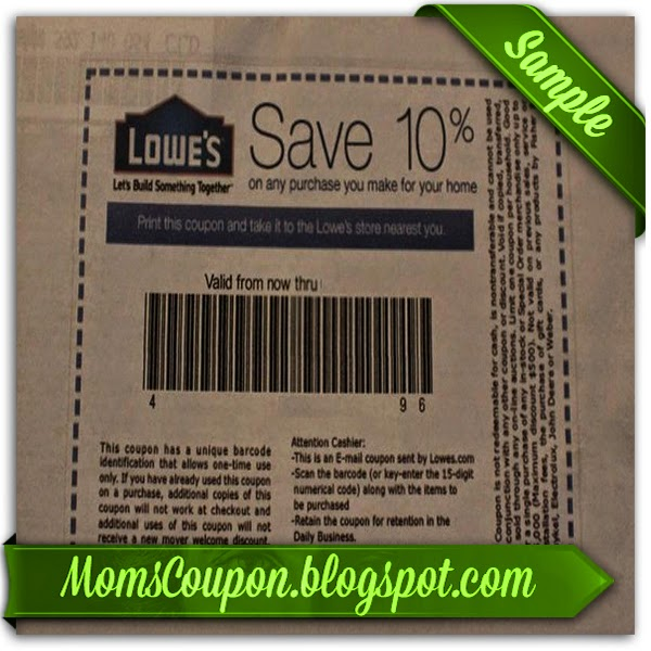 Lowes online coupon code