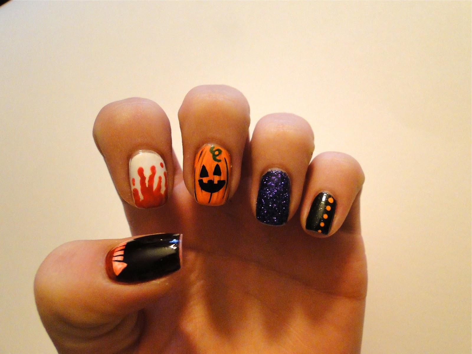 WeeklyWackyNails: Halloween Nail Art featuring kkcenterhk
