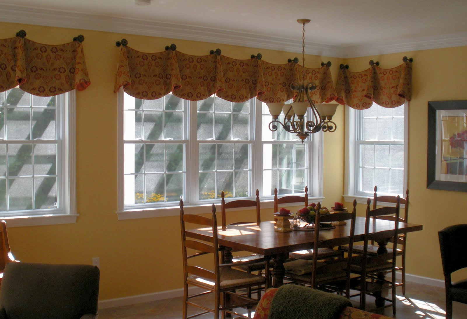 New England Style: My Favorite Valance with Contrast Fabric