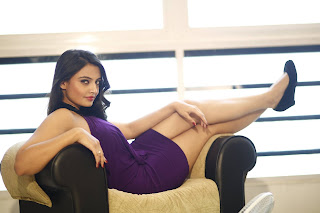 Nikitha narayan new glamorous pics in Purple Short Dress