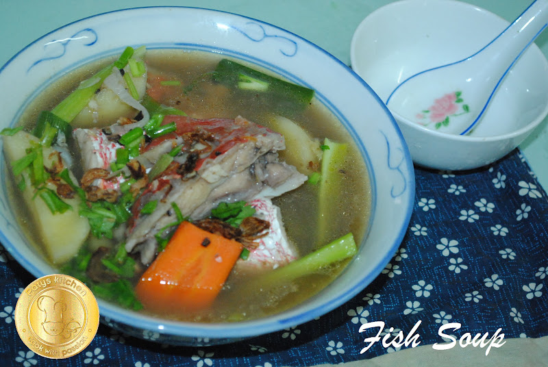 Patyskitchen red snapper fish head soup for Fish head soup