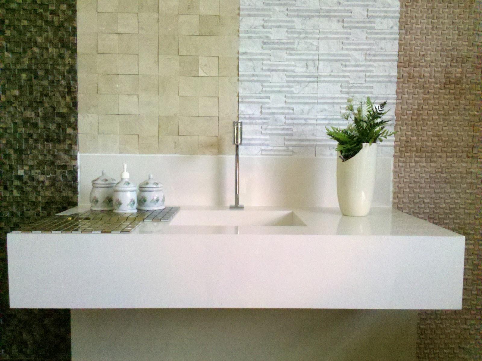 ARQUITED: Bancadas em porcelanato #33351A 1600x1200 Banheiro Bancada Porcelanato