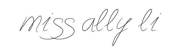 miss ally li