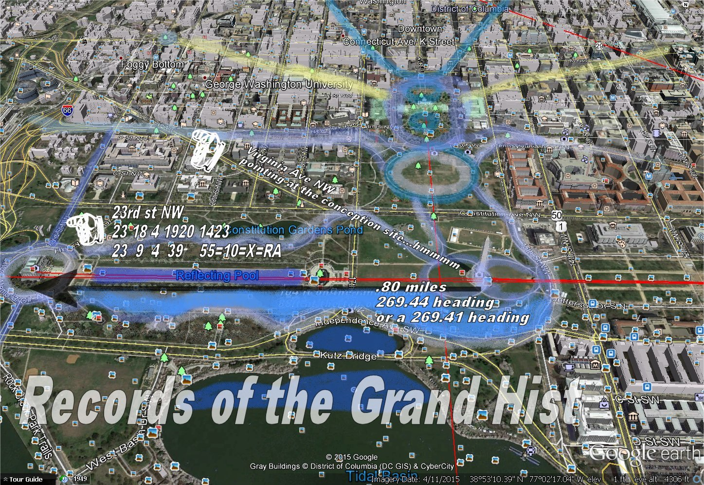 Records Of The Grand Historian ISIS In Washington DC And The Sa - Washington dc map conspiracy