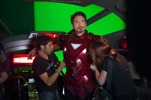 In the movie the avengers robert downey jr reprised his role of tony