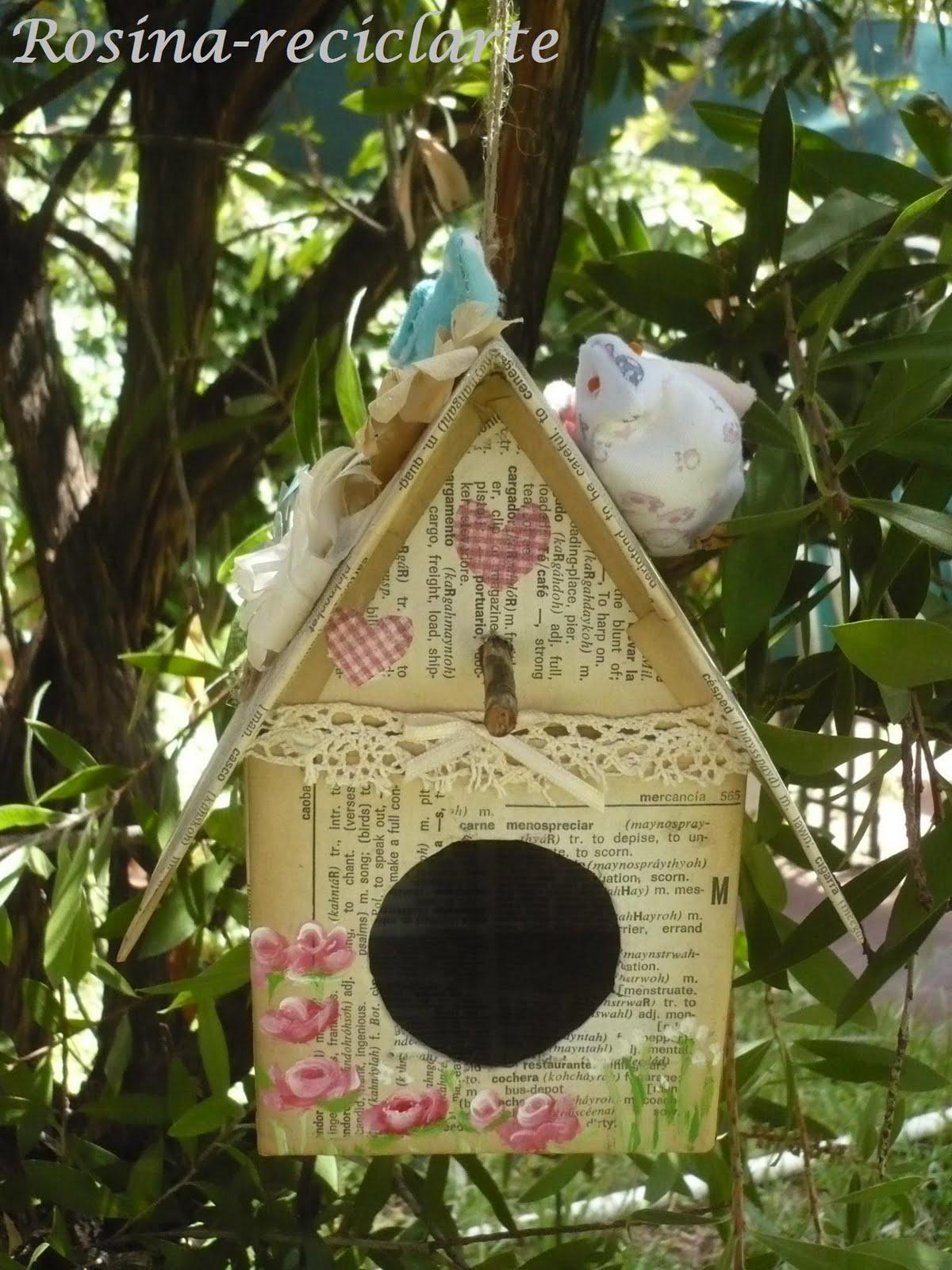 Reciclarte la primer casita de p jaros - Casita para pajaros ...
