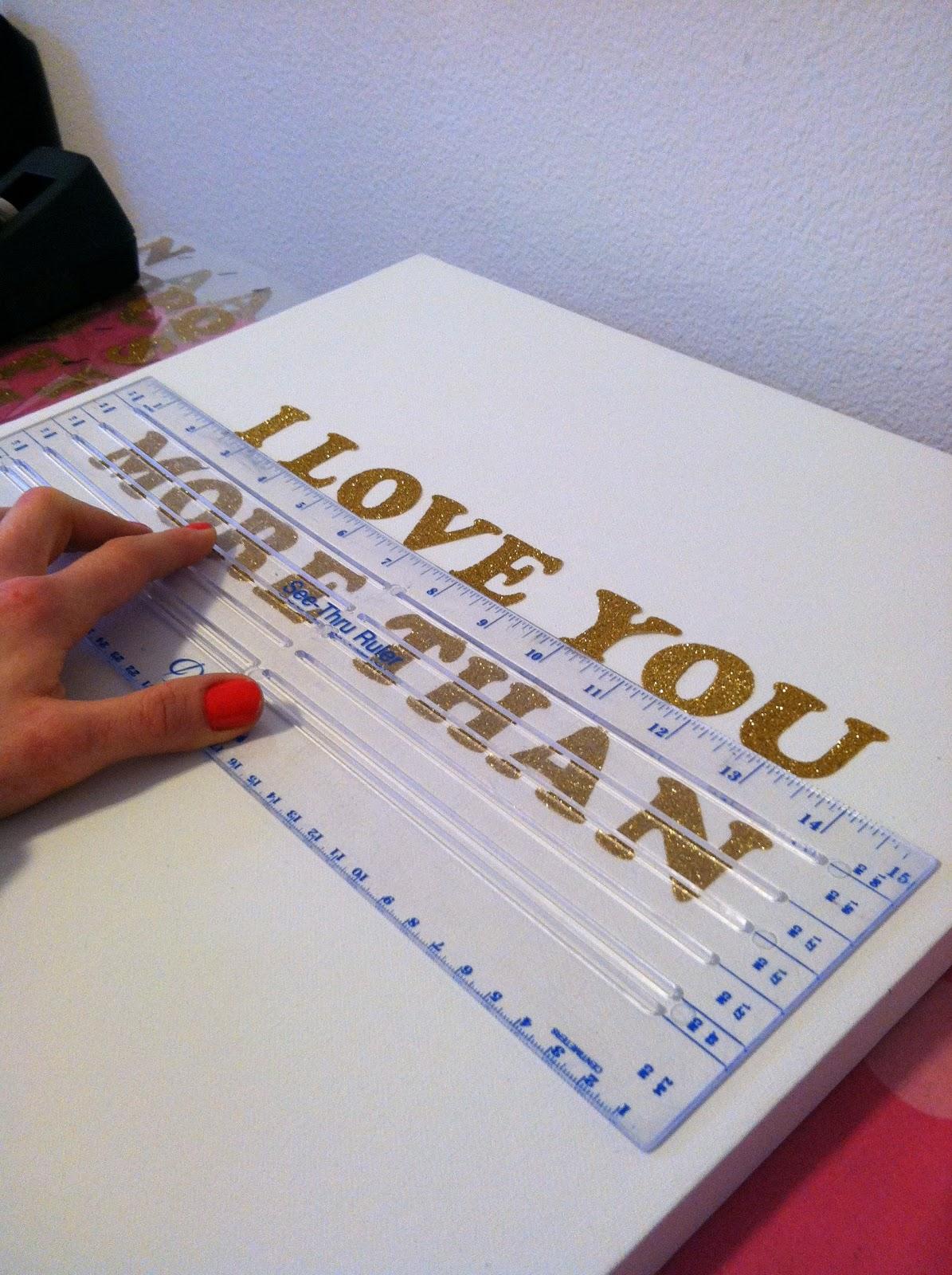 DIY Glitter Letter Wall Art Tutorial