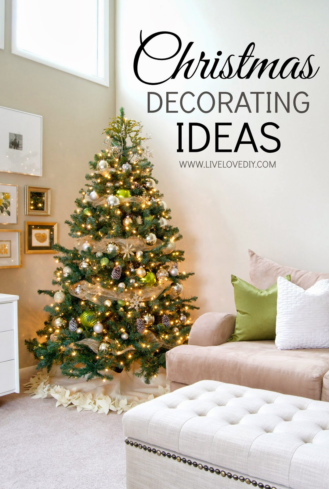 Livelovediy the tree reveal and my favorite project ever christmas decorating ideas that you can make yourself this post is full of diy ideas solutioingenieria Images