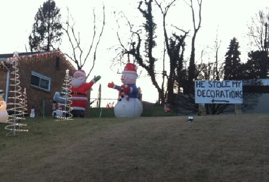 contrary lazy or subversive but funny christmas decorations