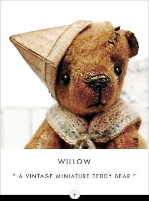 vintage miniature teddy bear
