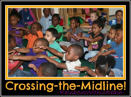photo of: Crossing the Midline: gross motor activities prepare young bodies for future reading