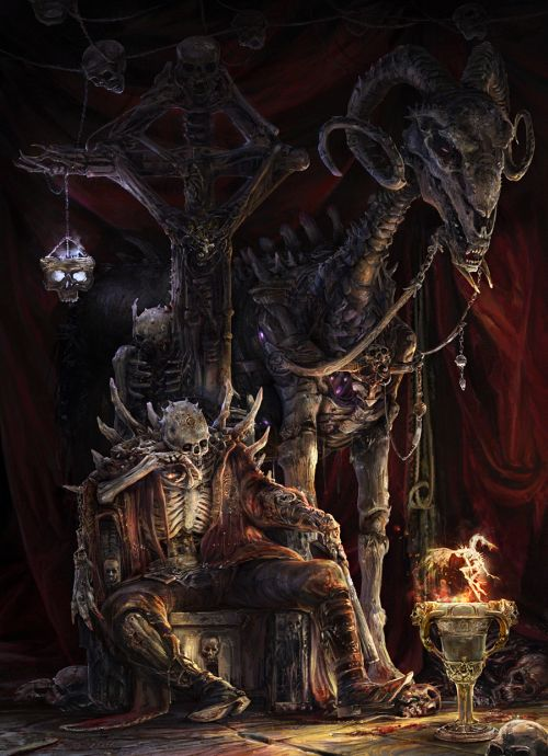 Kuang Hong illustrations fantasy dark grim The lord of death