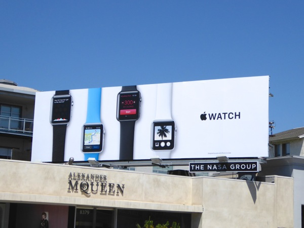 Apple Watch billboard