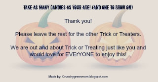 TrickorTreatLetter-CrunchyGreenMom-2013- Letter to leave outside at Halloween