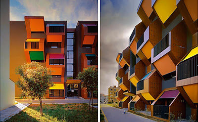 modern architecture - cube buildings