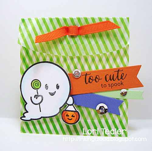 Too Cute to Spook treat bag-designed by Lori Tecler/Inking Aloud-stamps from Waltzingmouse Stamps