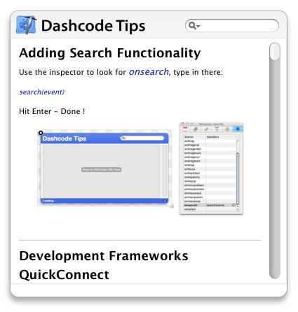 Dashcode Tips
