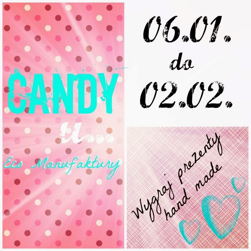 Candy i styczniowa rozdawajka 2014 na blogu decoupage Eco Manufaktura