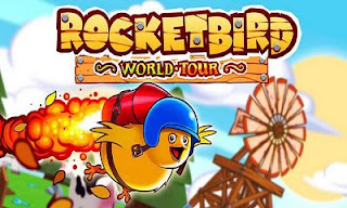 Screenshots of the Rocketbird: World Tour for Android tablet, phone.