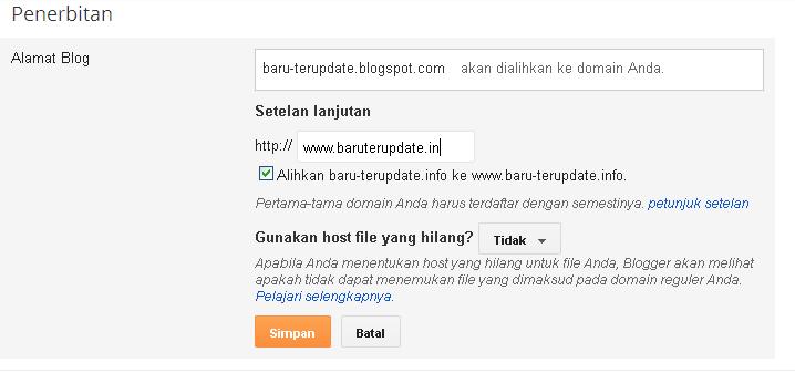 Cara Custom Domain Blogspot Terbaru 4