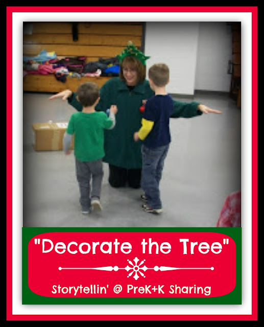 photo of: Decorate the Tree Activity Relay in Preschool Holiday Party: Storytellin' at PreK+K Sharing