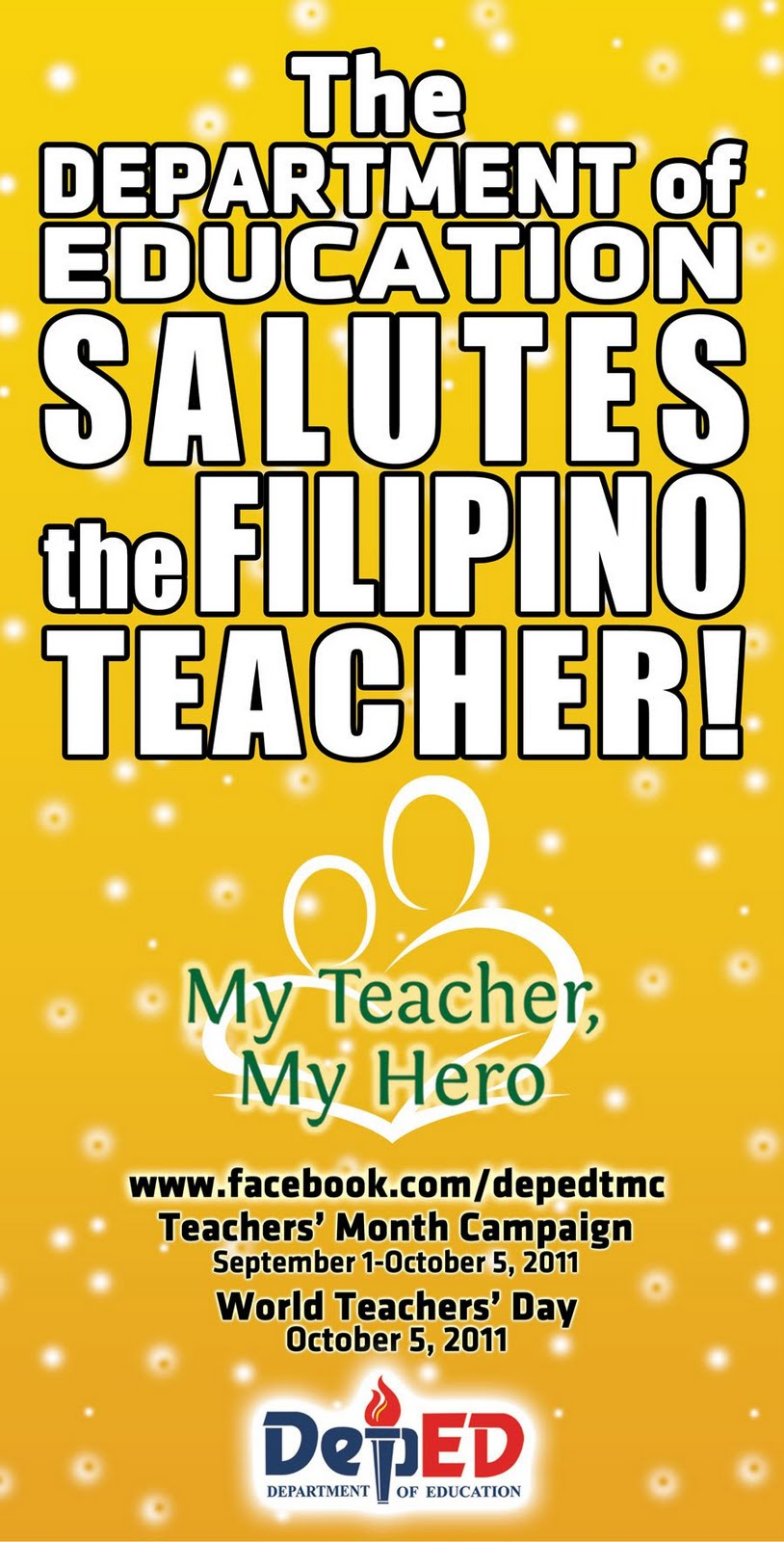 philippines teacher day September 5 marks the start of the national teacher's month, and its end,  october 5, marks the celebration of world teacher's day.