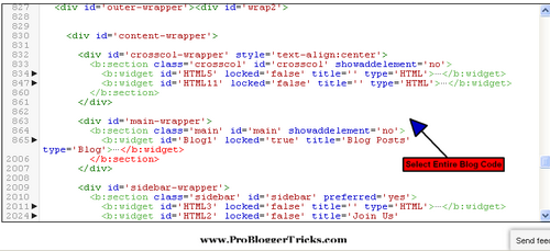 Coding Inside Blogger New Html Editor