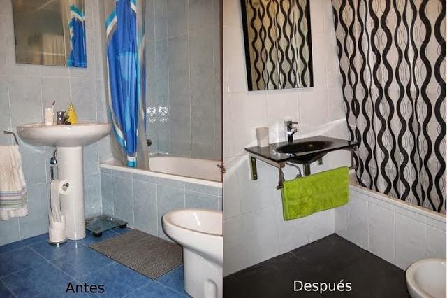antes y después de un baño diy