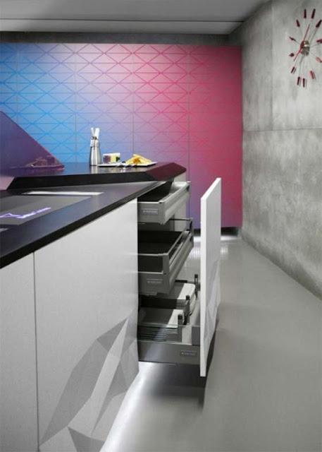 cuisine design blanche origami façades de cuisine design