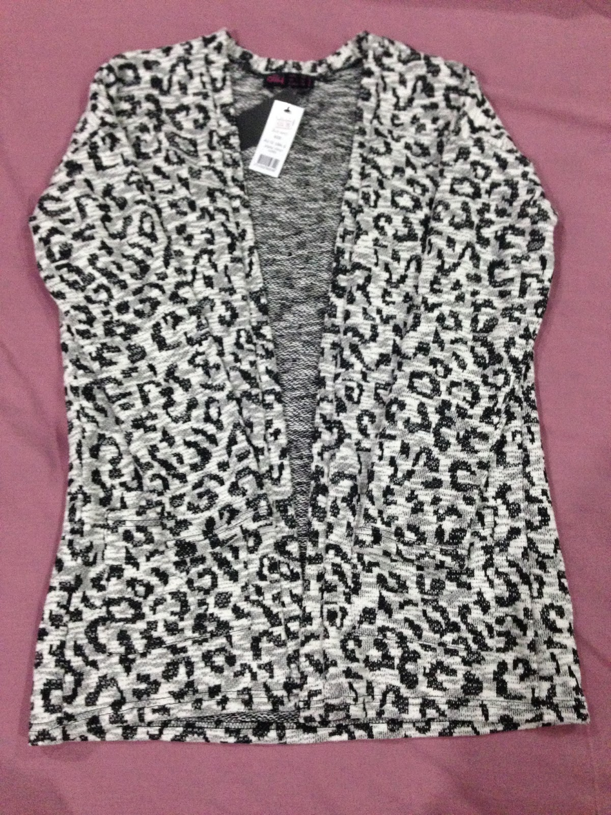 Animal Print Cardigan by Ally Fashion