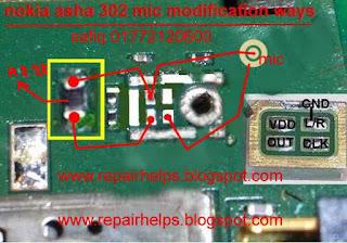 nokia asha 302 mic modification ways