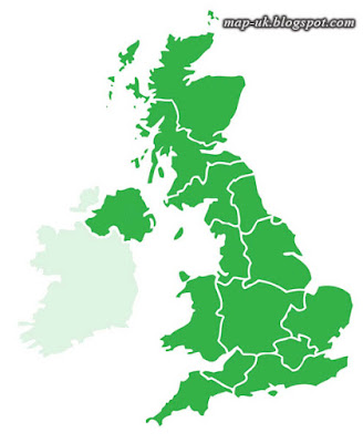 Map of UK Political and Region
