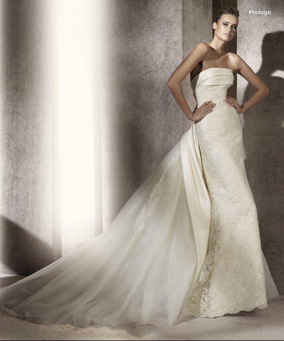 todo sobre bodas: vestido de novia prologo pronovias 2012 manuel mota