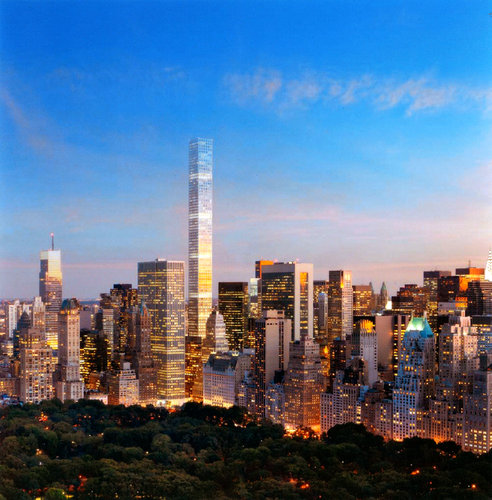 New rendering of New York's tallest residential skyscraper under construction, 432 Park Avenue