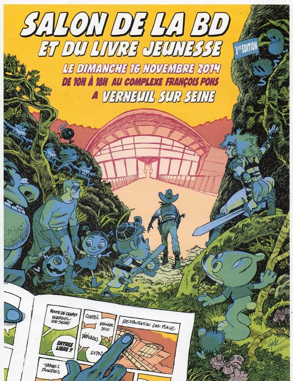 Salon bande dessinées Verneuil sur Seine, 16 novembre 2014