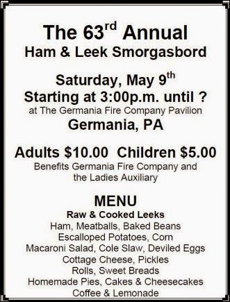 5-9 Ham & Leek Smorgasbord, Germania, PA