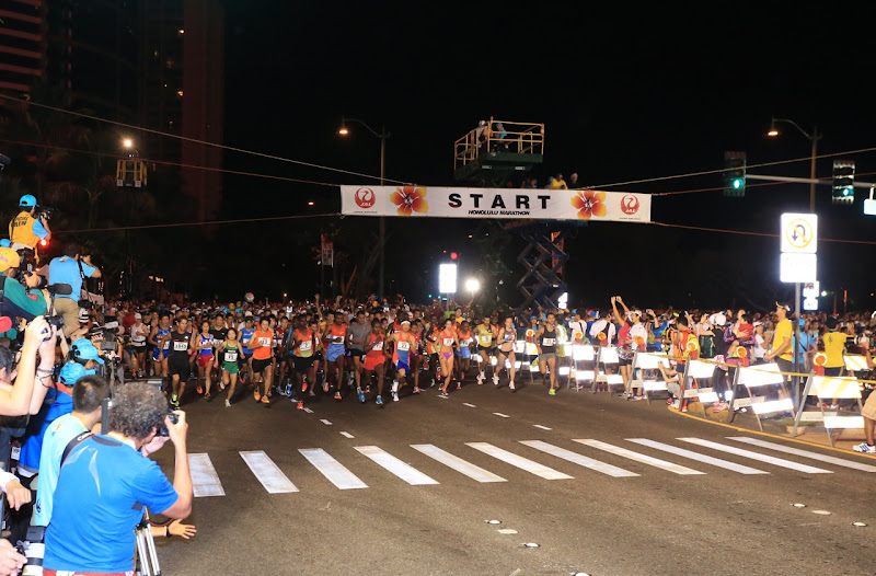 Honolulu Marathon start 2012
