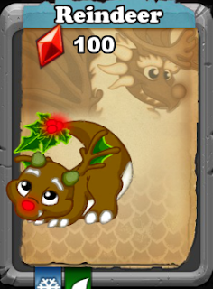 Dragonvale Reindeer Dragon