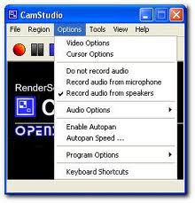 camstudio- options tab in camstudio - free screen recorder software