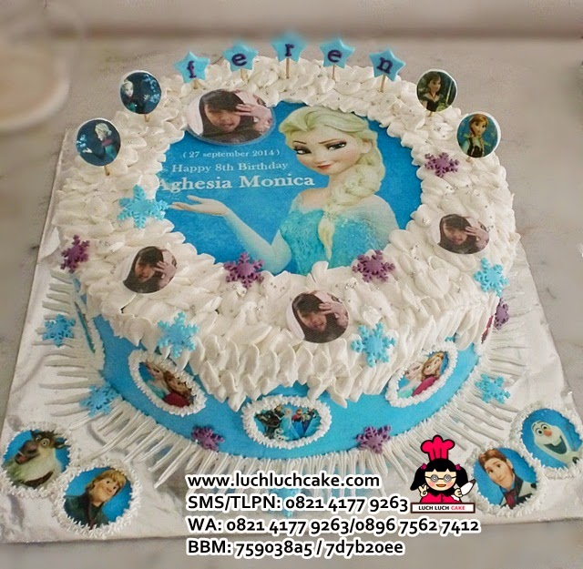 Kue Tart Ulang Tahun Tema Frozen Daerah Surabaya - Sidoarjo