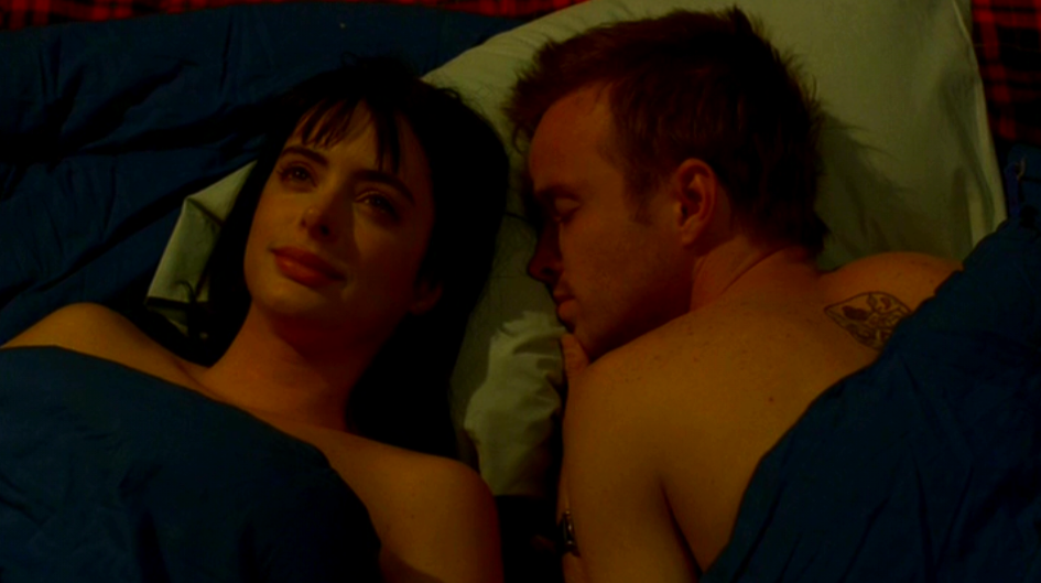 Aaron Paul Krysten Ritter Jesse Pinkman And Jane Margolis On Breaking