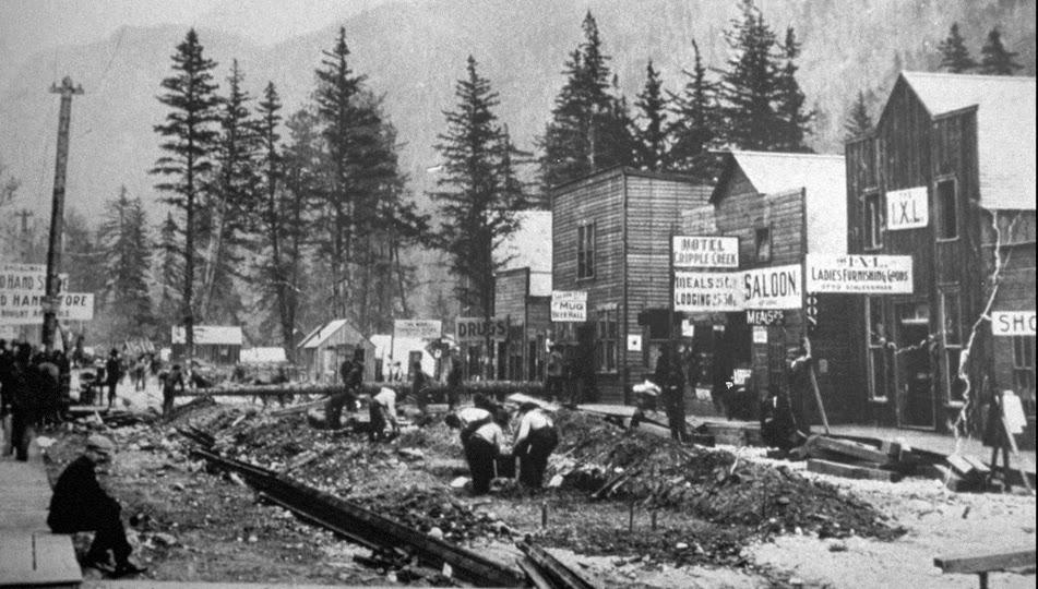 Ciudad de Skagway en Alaska