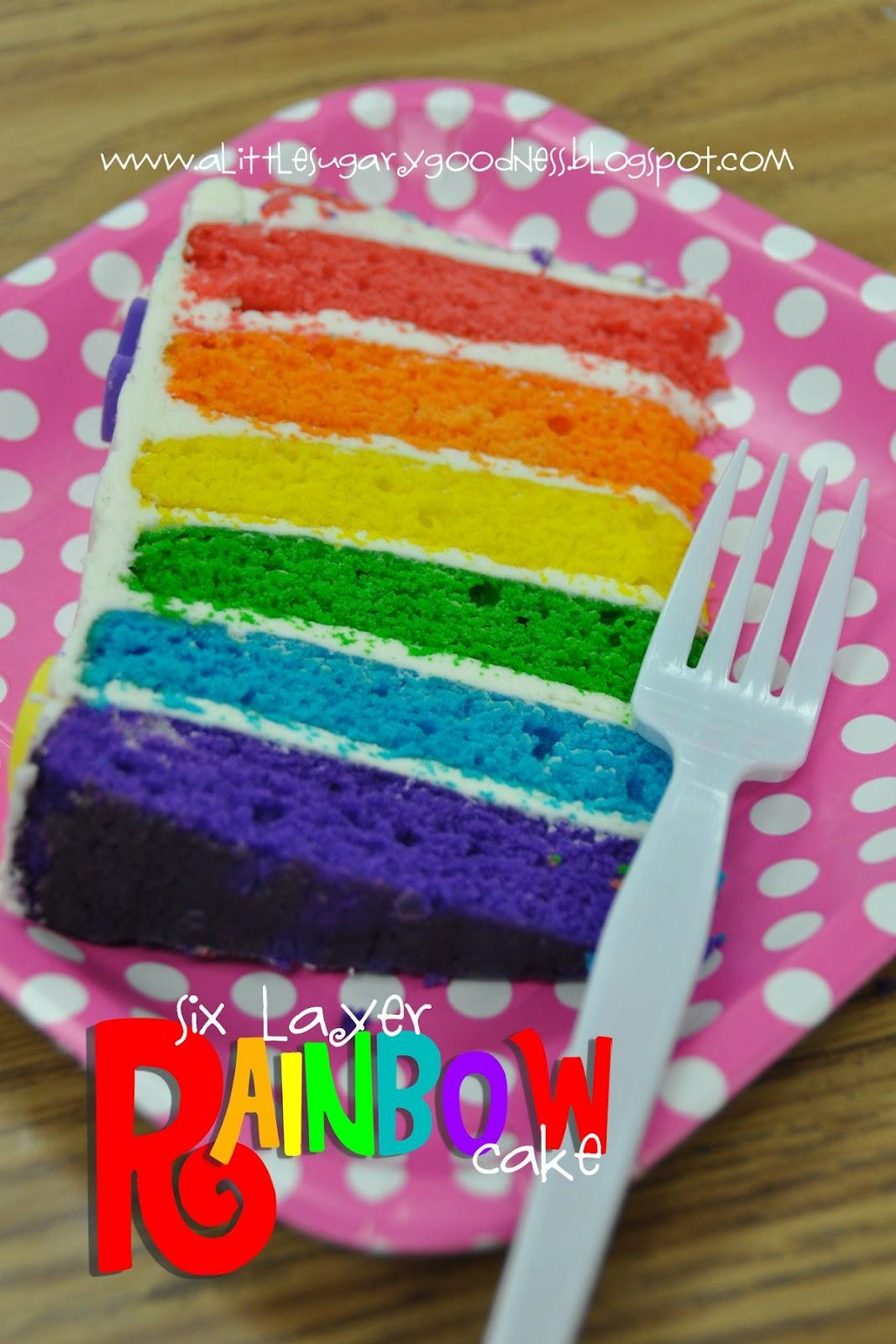 Little Sugary Goodness: Rainbow Layer Cake