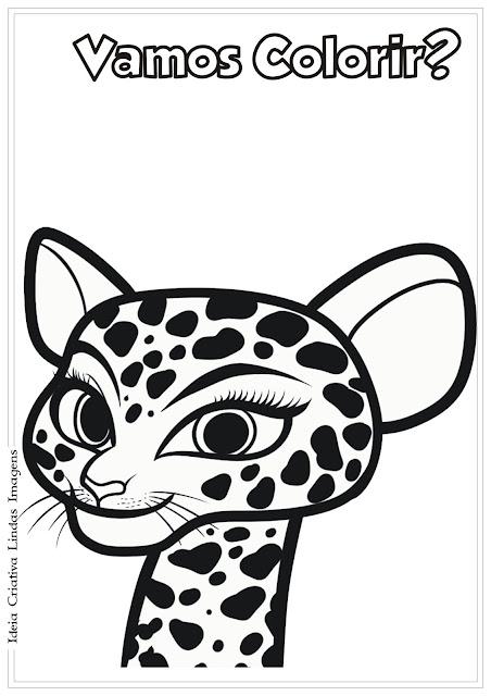 Desenho Gia Madagascar 3 para colorir