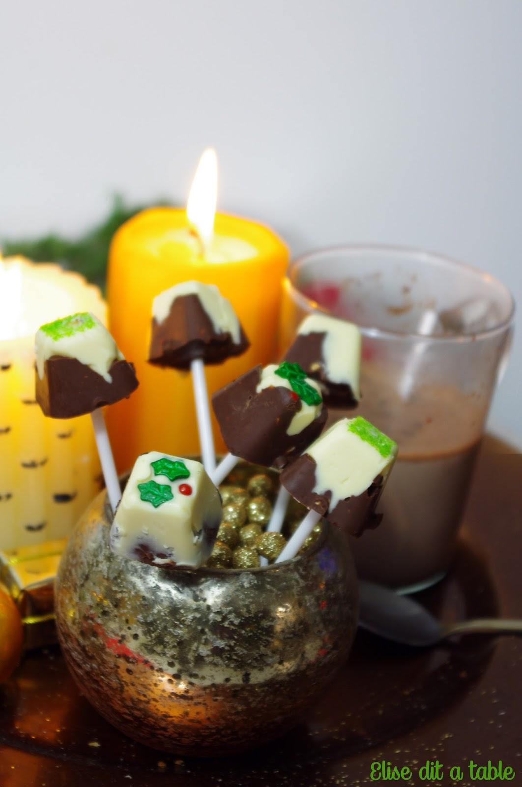 recette sucettes pour chocolat chaud